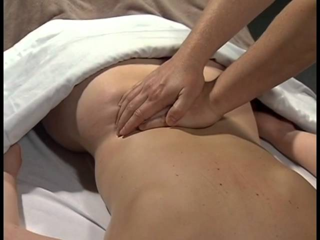 Picture of a lower back massage